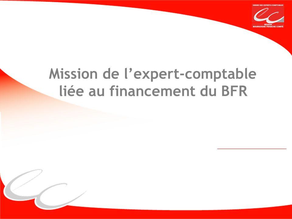 Mission de lexpert-comptable liée au financement du BFR