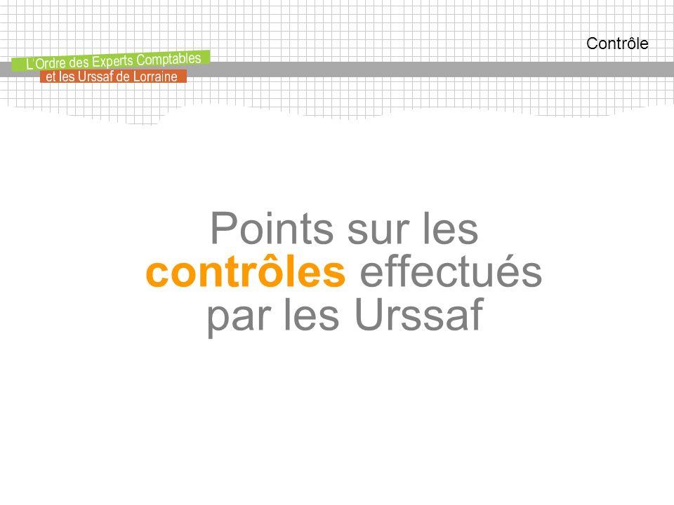 Contrôle Points sur les contrôles effectués par les Urssaf