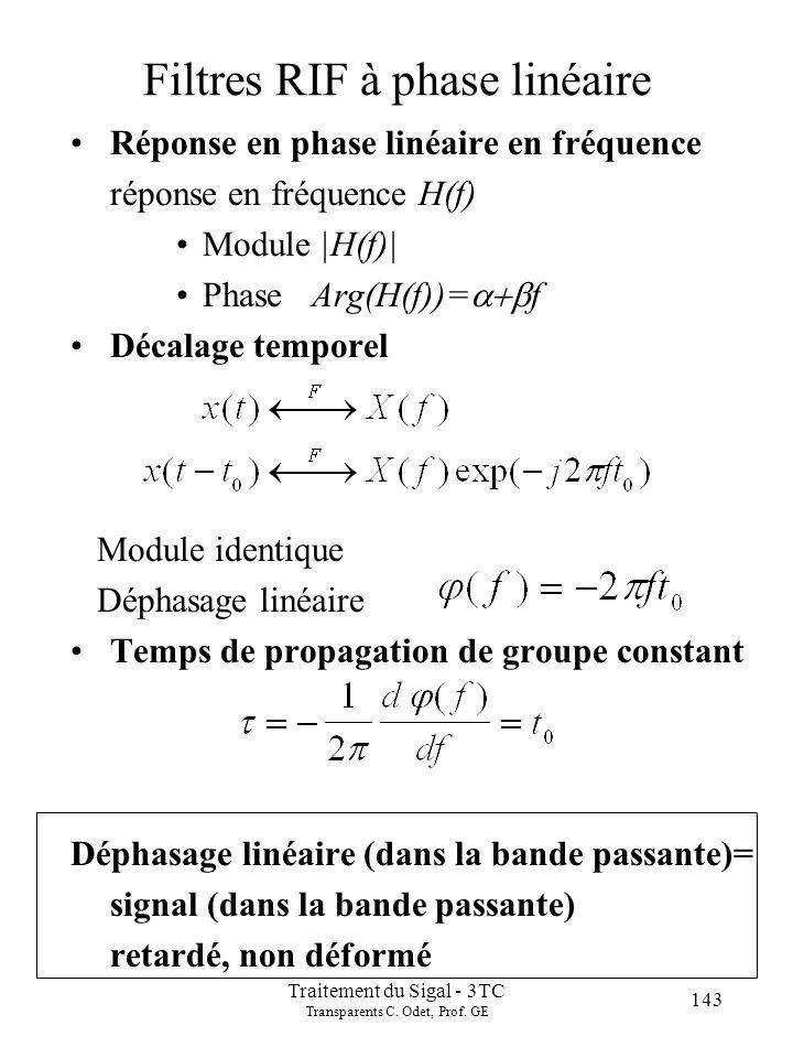 143 Traitement du Sigal - 3TC Transparents C.Odet, Prof.