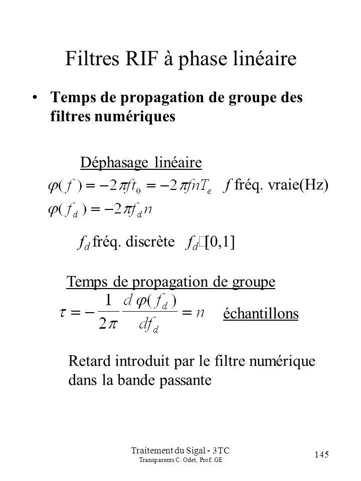 145 Traitement du Sigal - 3TC Transparents C.Odet, Prof.