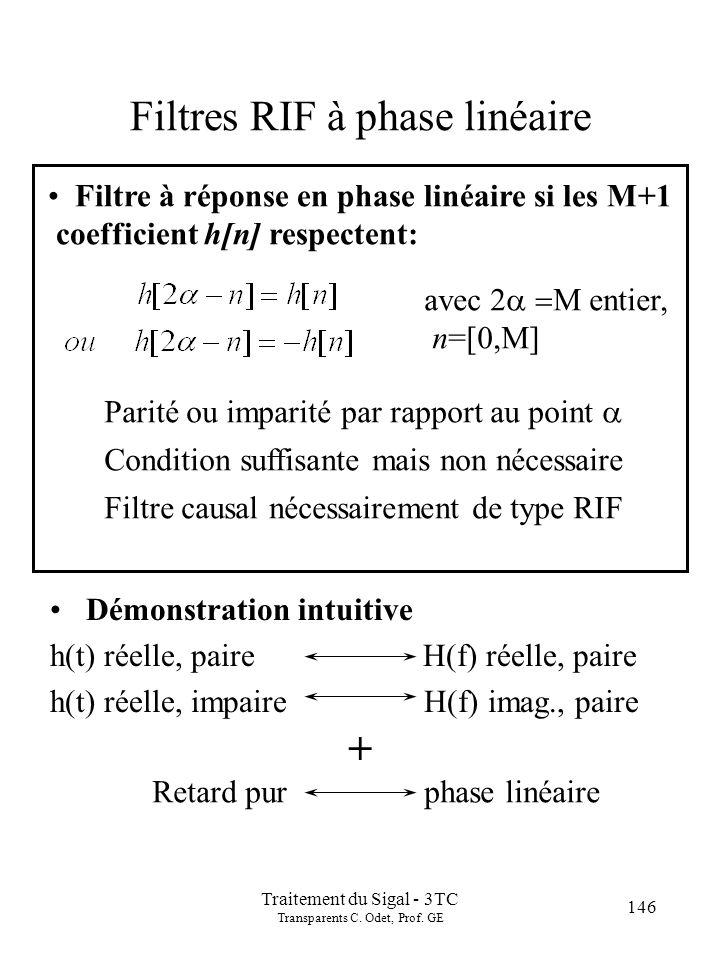 146 Traitement du Sigal - 3TC Transparents C.Odet, Prof.