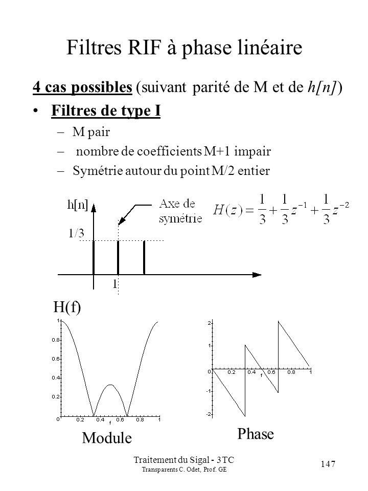 147 Traitement du Sigal - 3TC Transparents C.Odet, Prof.