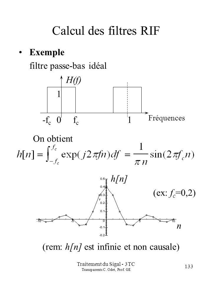 133 Traitement du Sigal - 3TC Transparents C.Odet, Prof.