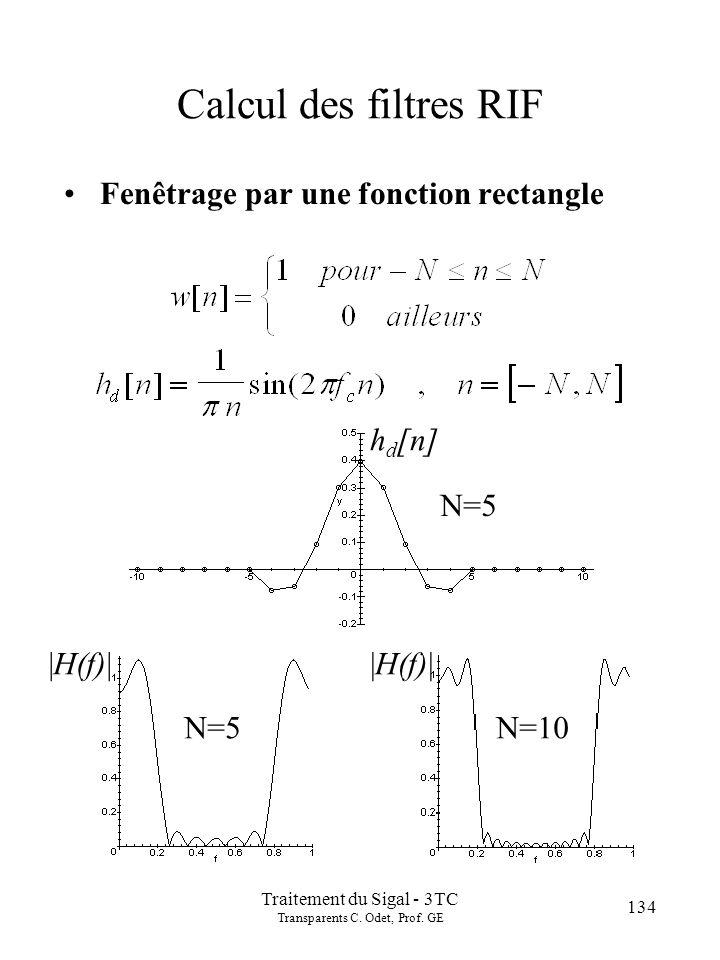 134 Traitement du Sigal - 3TC Transparents C.Odet, Prof.