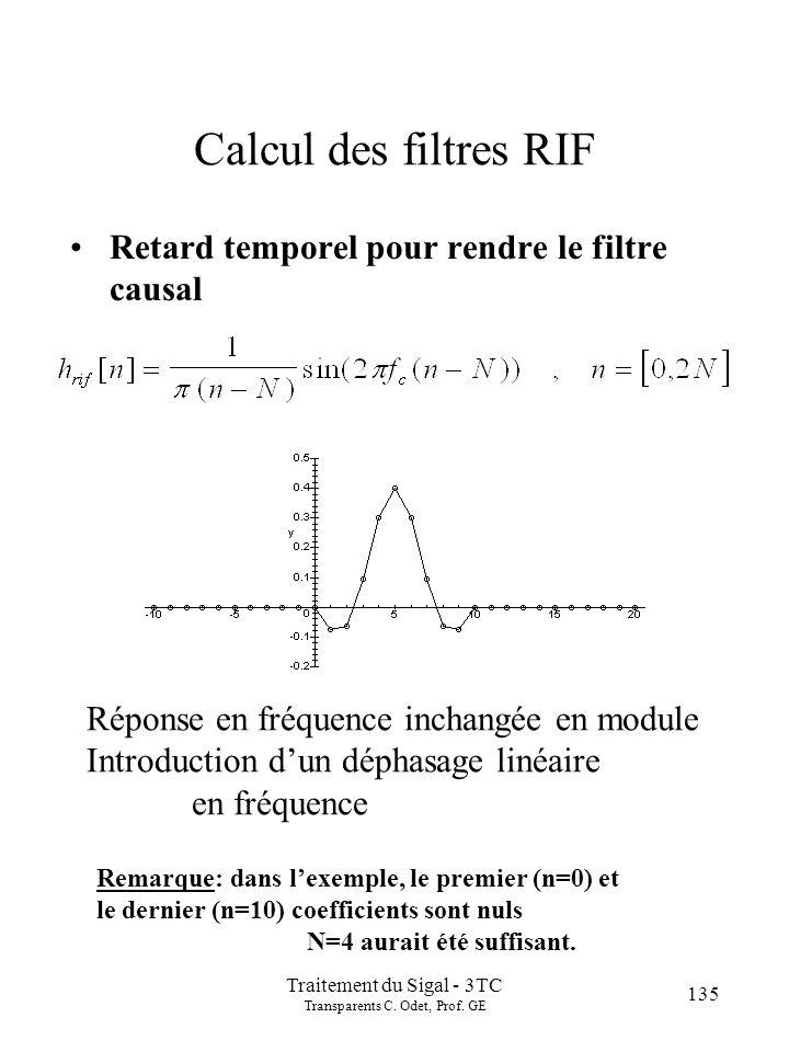 135 Traitement du Sigal - 3TC Transparents C.Odet, Prof.