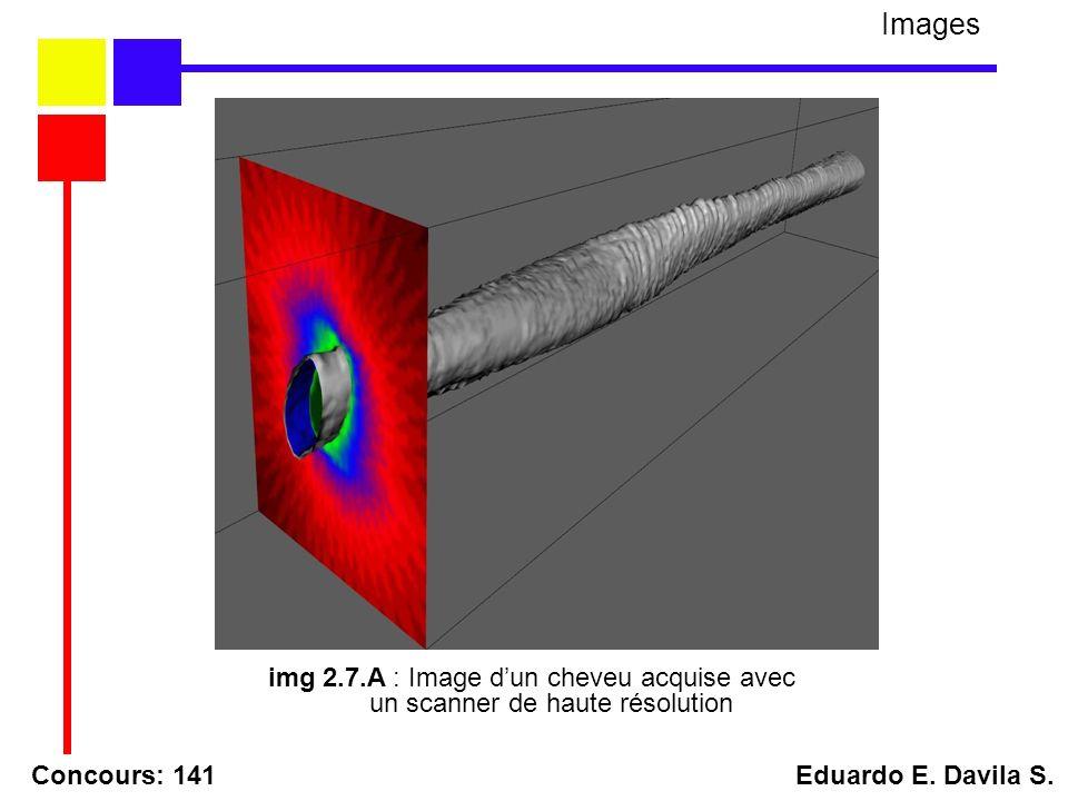 Concours: 141 Eduardo E. Davila S. Images img 2.7.A : Image dun cheveu acquise avec un scanner de haute résolution