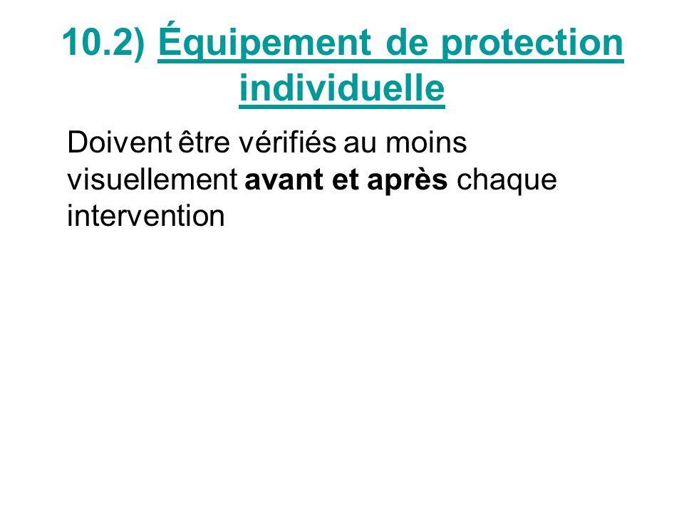 10.2.1) Casque de protection