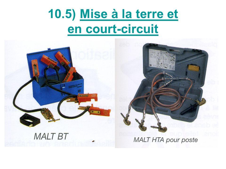 Précautions pour la MALT et CC Choisir le dispositif adapté au niveau de tension et à lintensité de court-circuit présumé au point de linstallation Vérifier le bon état du système, particulièrement les pièces de contact Connecter létau de terre aux masses métalliques de linstallation ou à un piquet métallique enfoncé dans le sol Raccorder, à laide dun élément isolant, les pinces à chacun des conducteurs de linstallation, les câbles ayant été préalablement déroulés