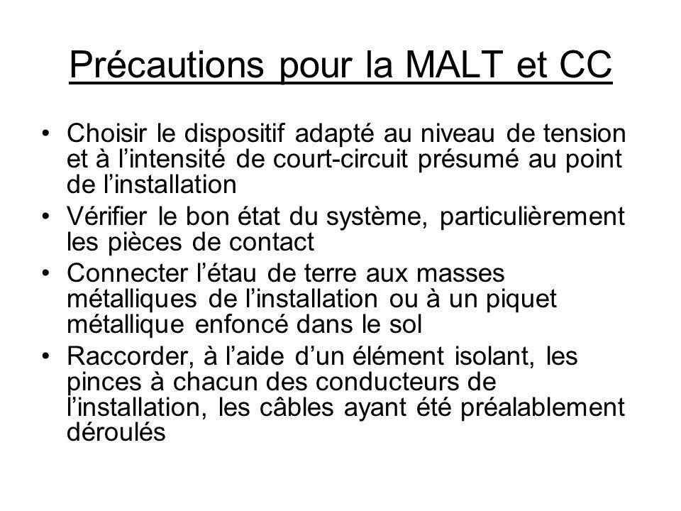 10.6) Perches isolantes (1): Sauvetage (doivent faire partie des équipements permanents des postes de transformation) (2): MALT et VAT (3): Travaux sous tension