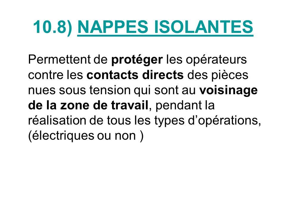 NAPPES ISOLANTES