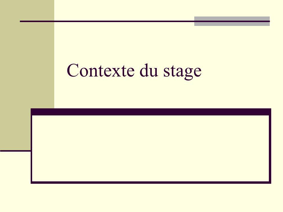 Contexte du stage