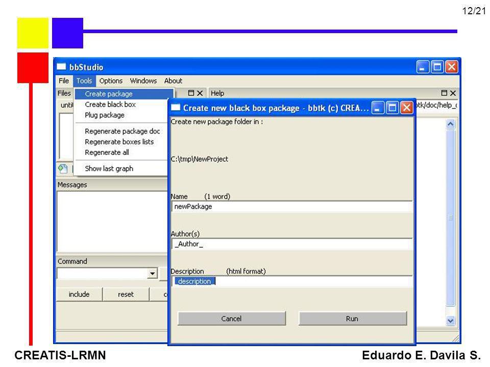 CREATIS-LRMN Eduardo E. Davila S. 12/21 BBTK