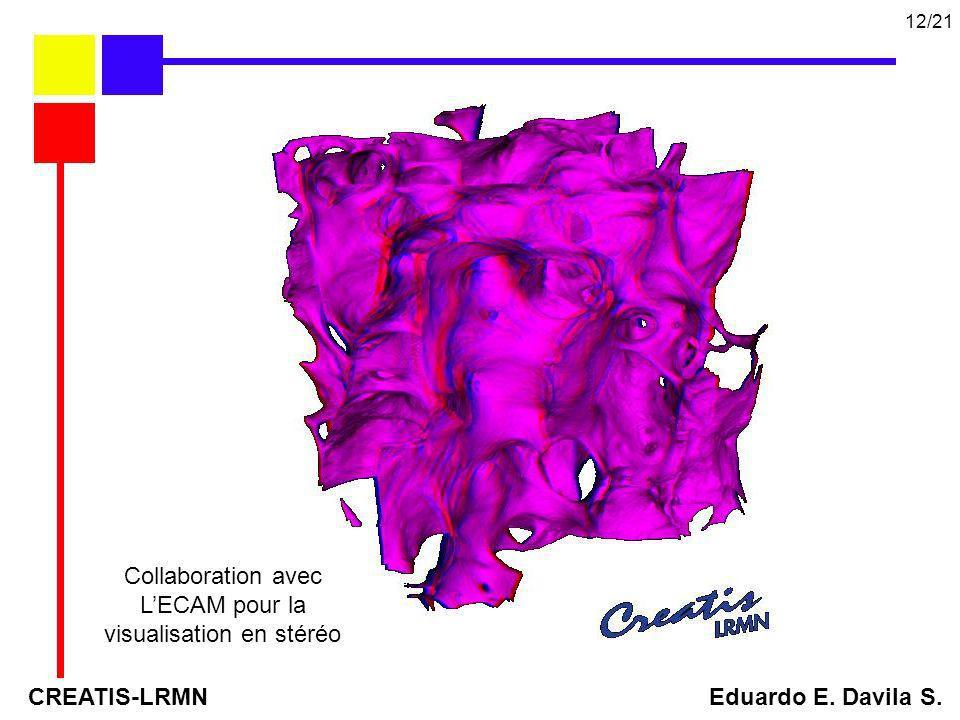 Collaboration avec LECAM pour la visualisation en stéréo CREATIS-LRMN Eduardo E. Davila S. 12/21