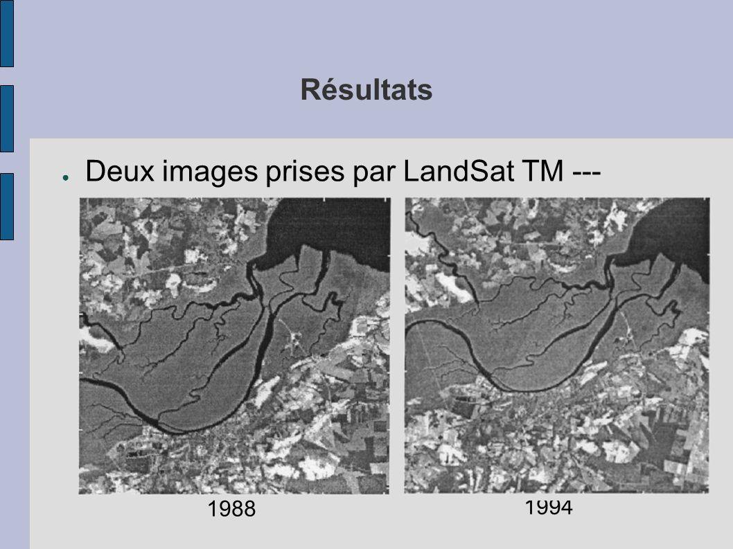 Résultats Deux images prises par LandSat TM --- Caroline du Nord 1988 1994