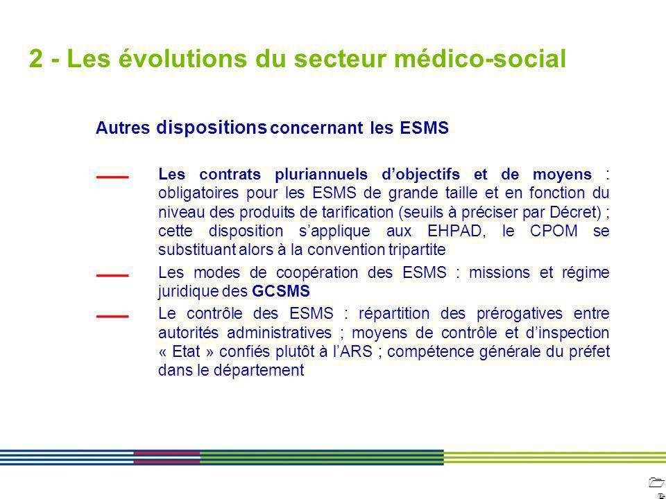 1212 ARS Ile de France Direction de loffre de soins et médico-sociale 12 avril 2010 Diapositive : 12 2 - Les évolutions du secteur médico-social Autre