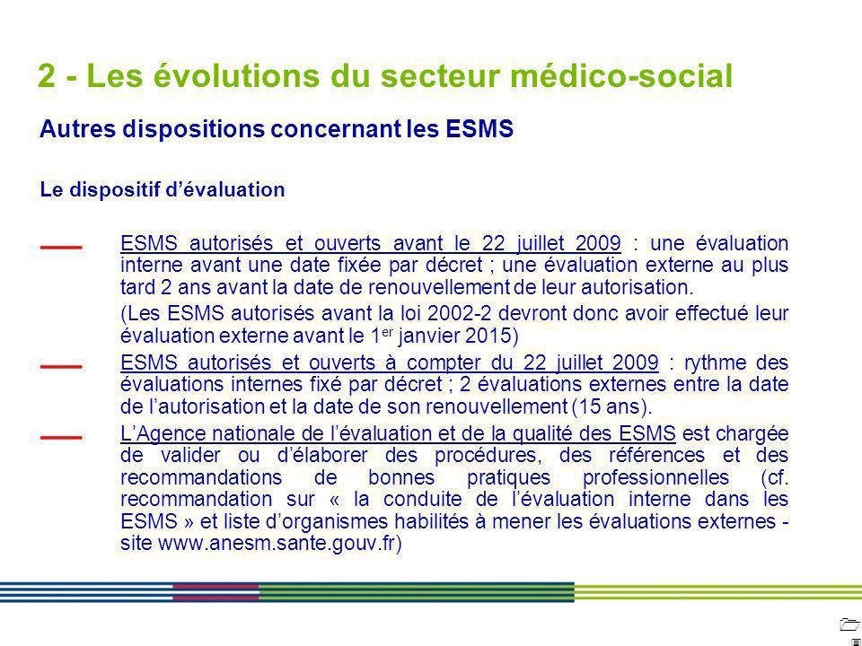 1313 ARS Ile de France Direction de loffre de soins et médico-sociale 12 avril 2010 Diapositive : 13 2 - Les évolutions du secteur médico-social Autre