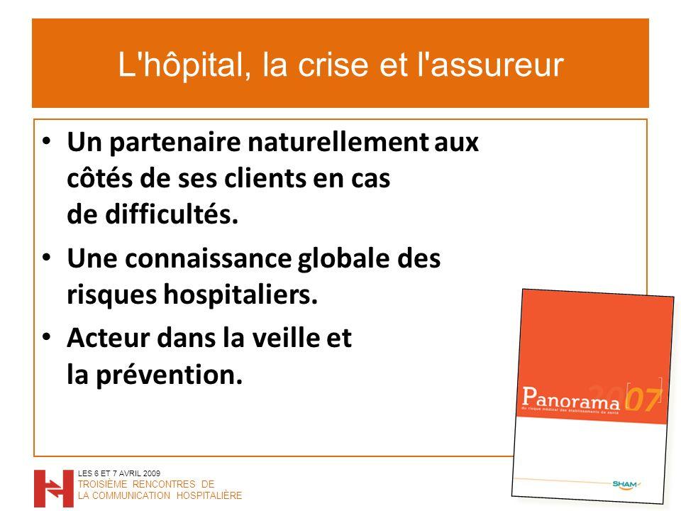 L hôpital, la crise et l assureur Un partenaire naturellement aux côtés de ses clients en cas de difficultés.
