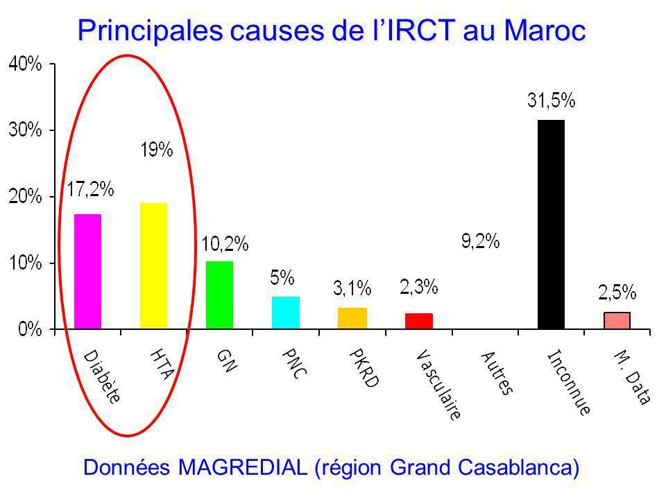 Principales causes de lIRCT au Maroc Données MAGREDIAL (région Grand Casablanca)