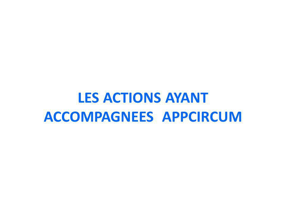 LES ACTIONS AYANT ACCOMPAGNEES APPCIRCUM
