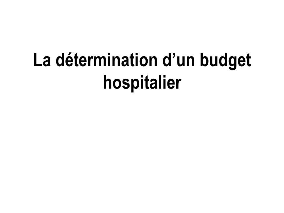La détermination dun budget hospitalier