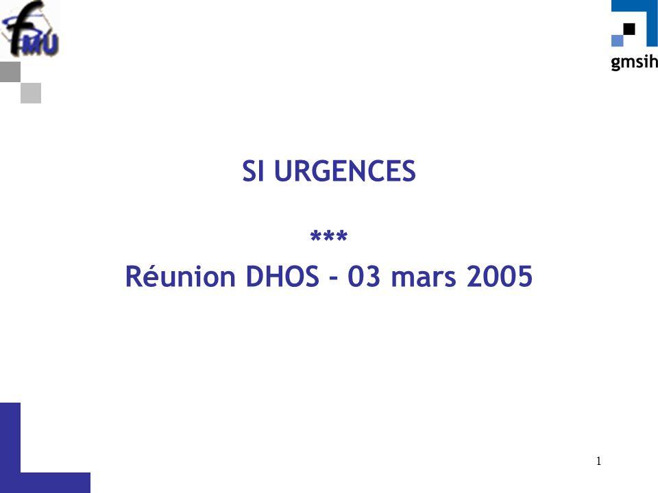 1 SI URGENCES *** Réunion DHOS - 03 mars 2005