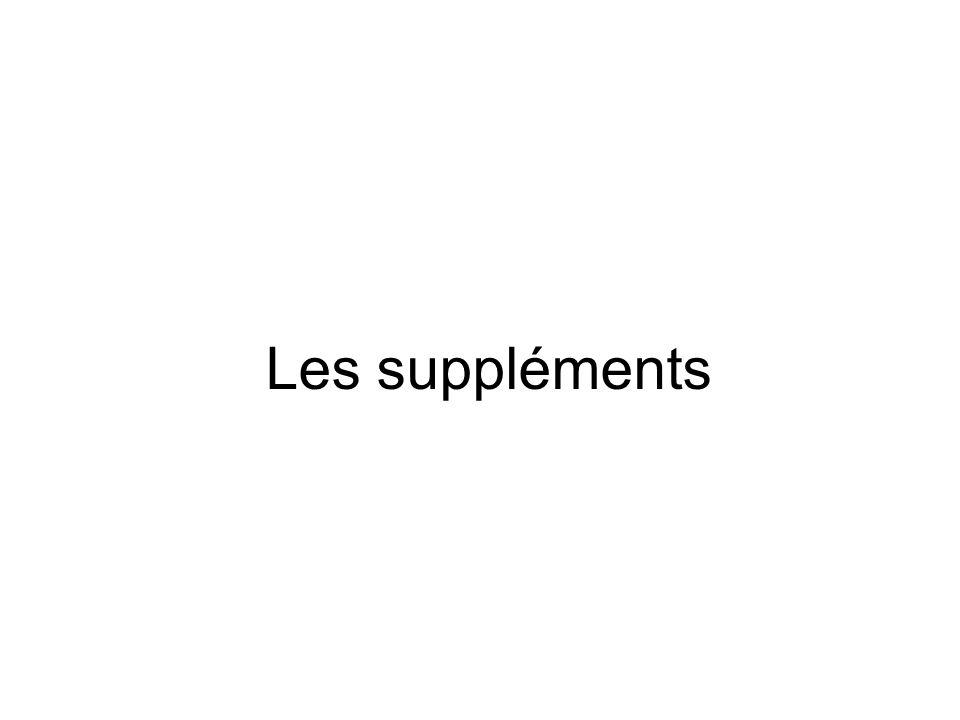Les suppléments