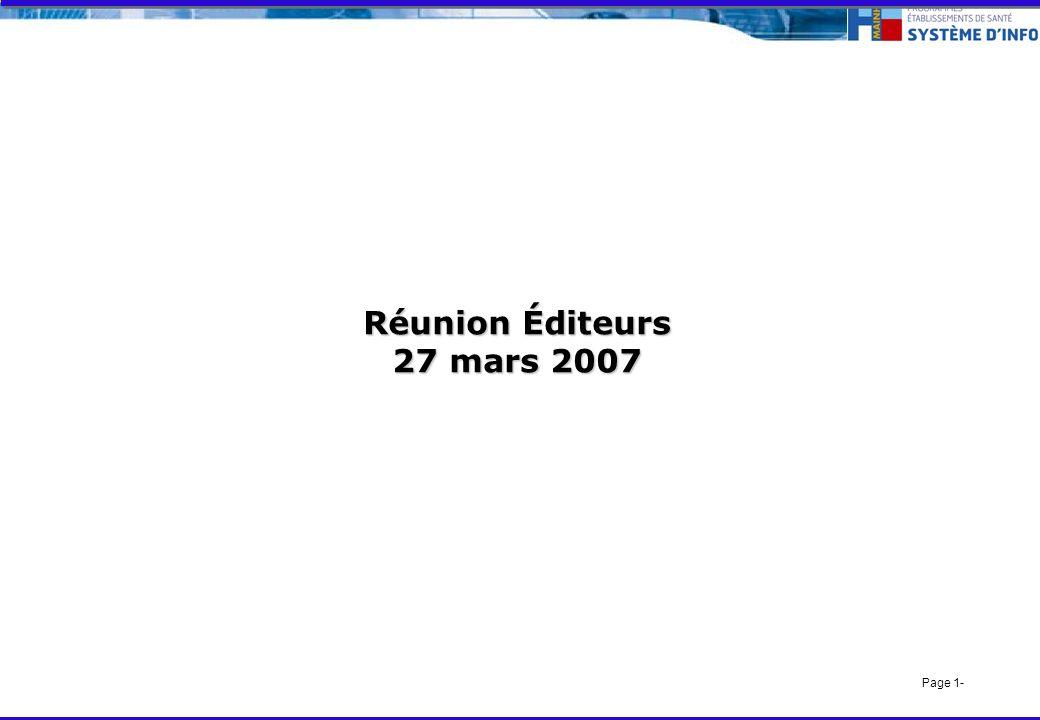Page 1- Réunion Éditeurs 27 mars 2007