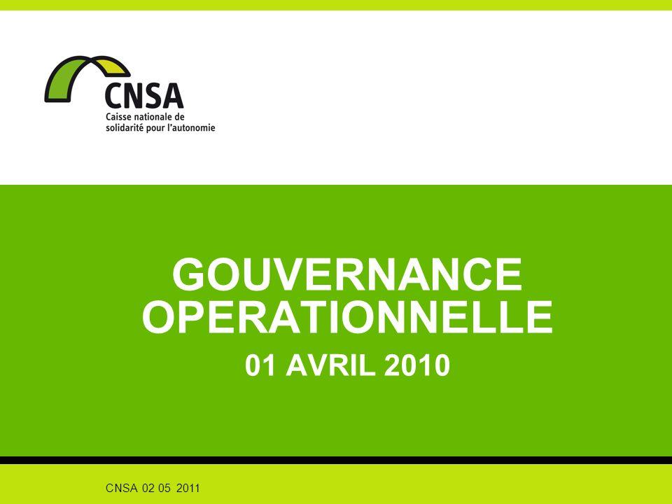 CNSA 02 05 2011 GOUVERNANCE OPERATIONNELLE 01 AVRIL 2010