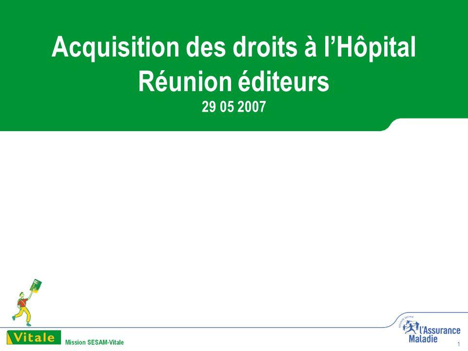 1 Acquisition des droits à lHôpital Réunion éditeurs 29 05 2007