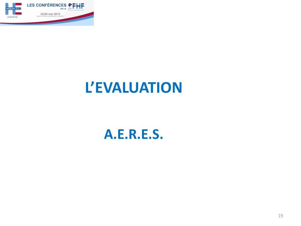 LEVALUATION A.E.R.E.S. 19