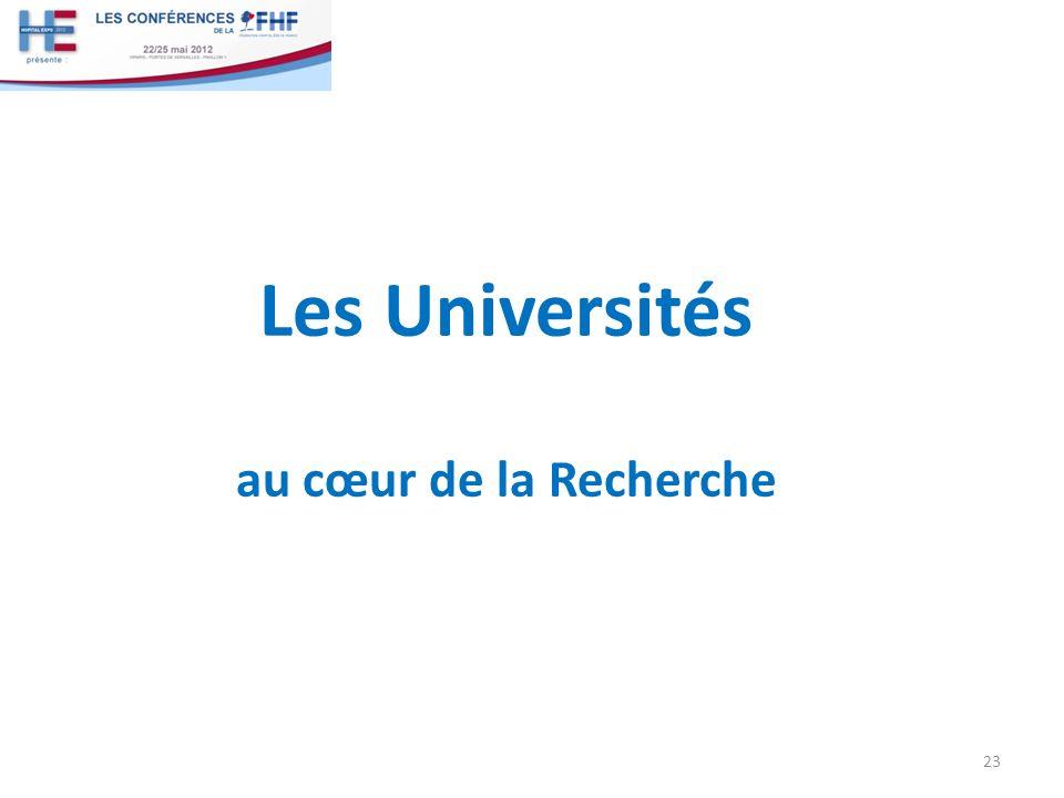 Les Universités au cœur de la Recherche 23