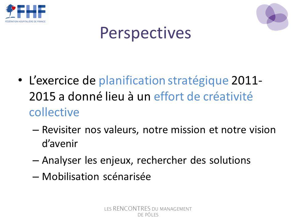 Perspectives Lexercice de planification stratégique 2011- 2015 a donné lieu à un effort de créativité collective – Revisiter nos valeurs, notre missio