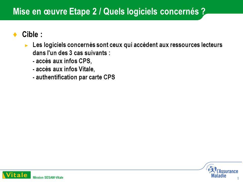 5 Mise en œuvre Etape 2 / Quels logiciels concernés .