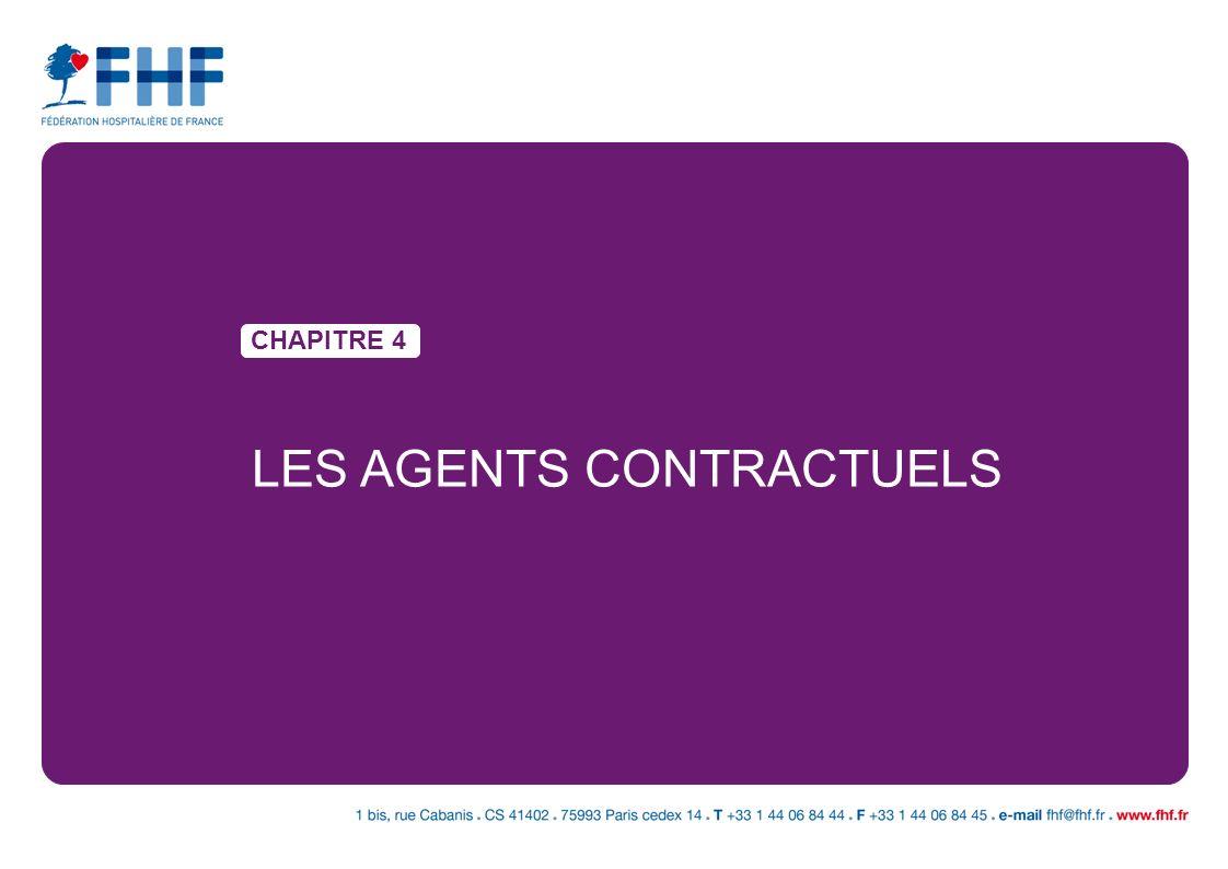 LES AGENTS CONTRACTUELS CHAPITRE 4