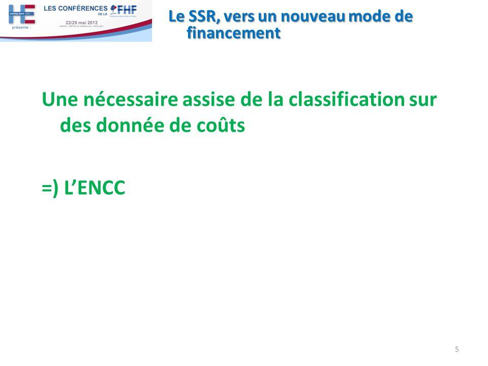Le SSR, vers un nouveau mode de financement Une nécessaire assise de la classification sur des donnée de coûts =) LENCC 5