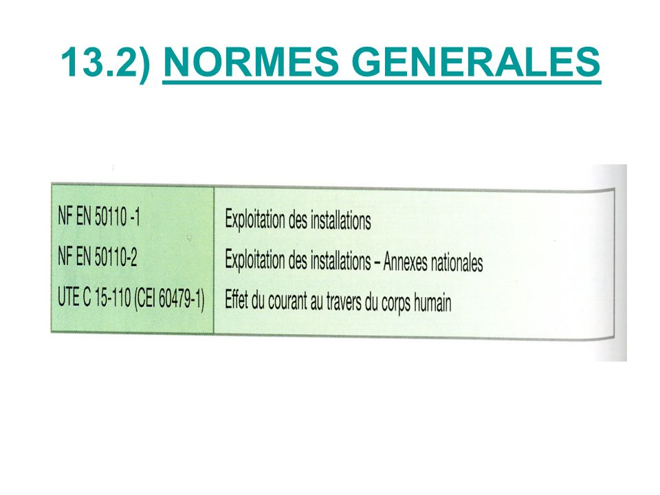 13.2) NORMES GENERALES