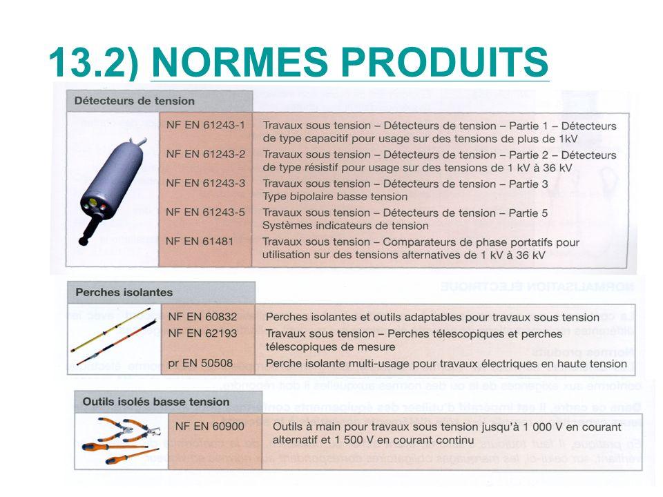 13.2) NORMES PRODUITS