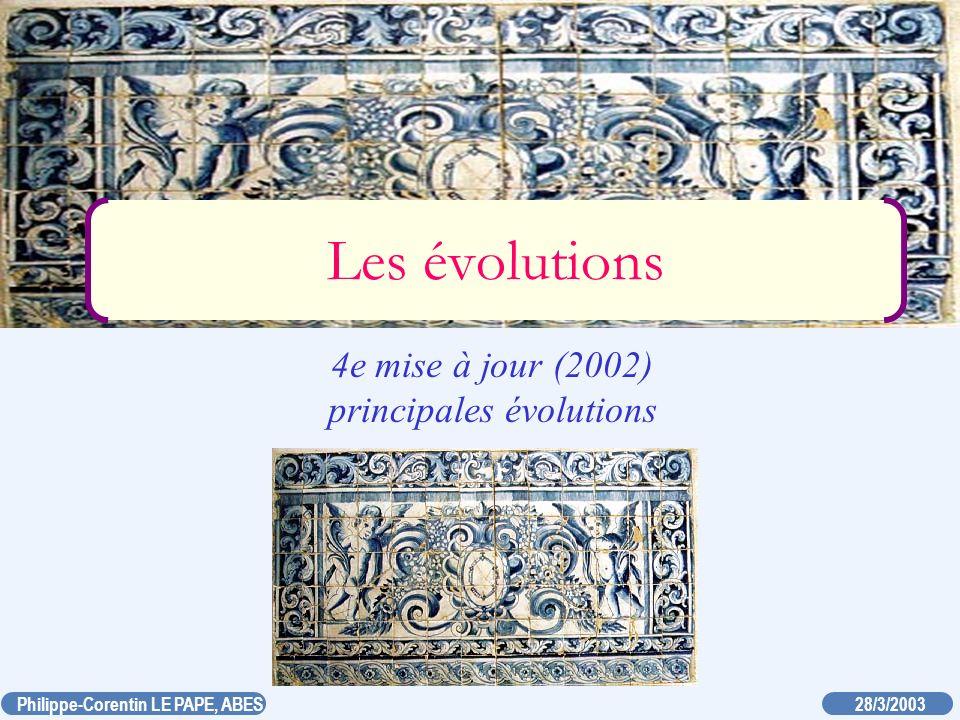 20/03/2003 Philippe-Corentin LE PAPE, ABES Pourquoi l UNIMARC(B) évolue-t-il.