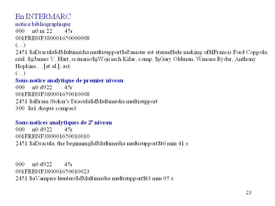 22 En UNIMARC Notice bibliographique 001FRBNF377038650000007 010 $a2-84137-111-5$bbr.$d34 EUR : 223 F (…) 2001$aL'|abandon à la Providence divine$bTex