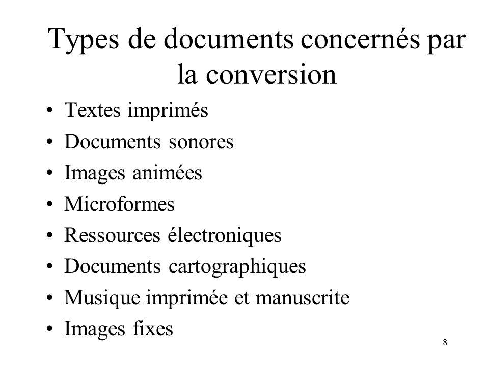 7 Les documents concernés par cette conversion sont dans BN OPALE PLUS