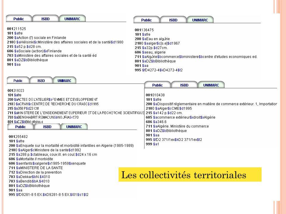 30 Les collectivités territoriales