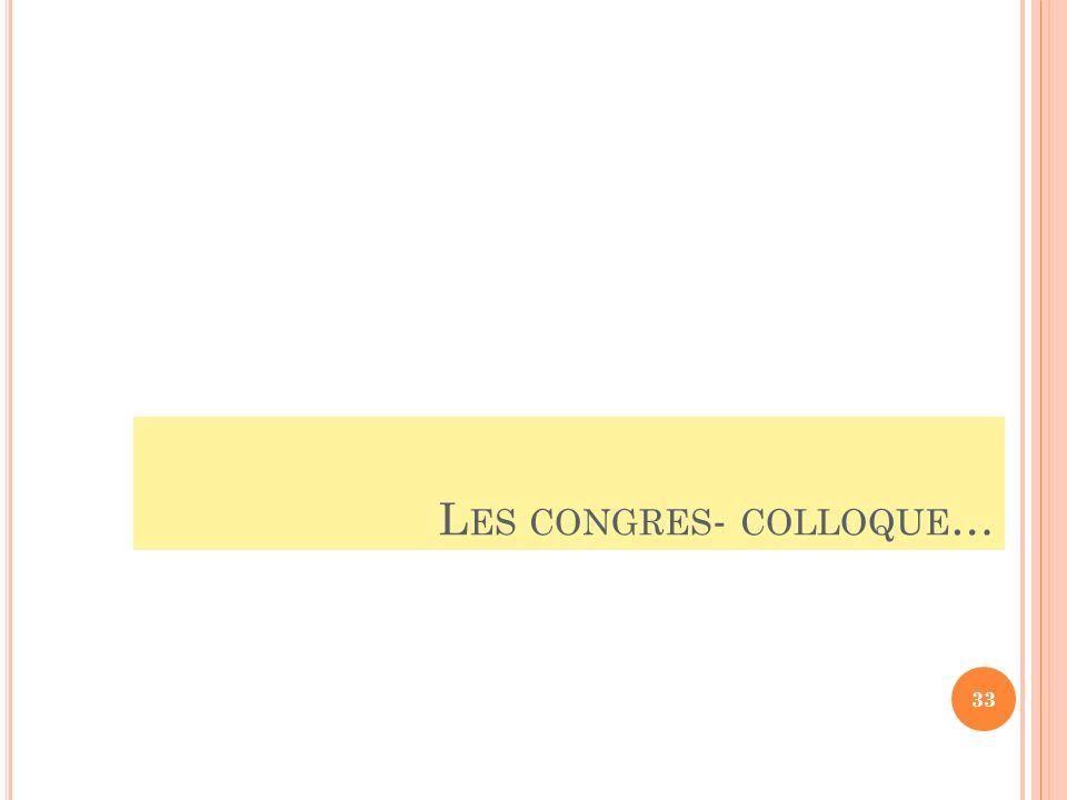 L ES CONGRES - COLLOQUE … 33