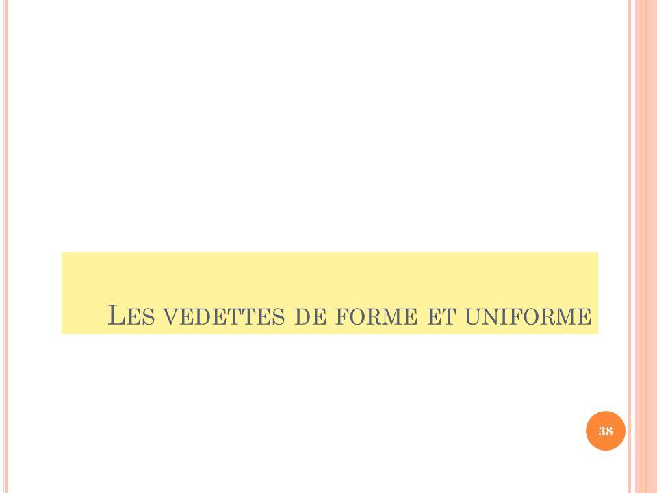 L ES VEDETTES DE FORME ET UNIFORME 38