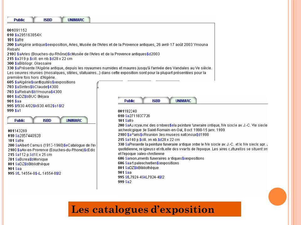 Les catalogues dexposition