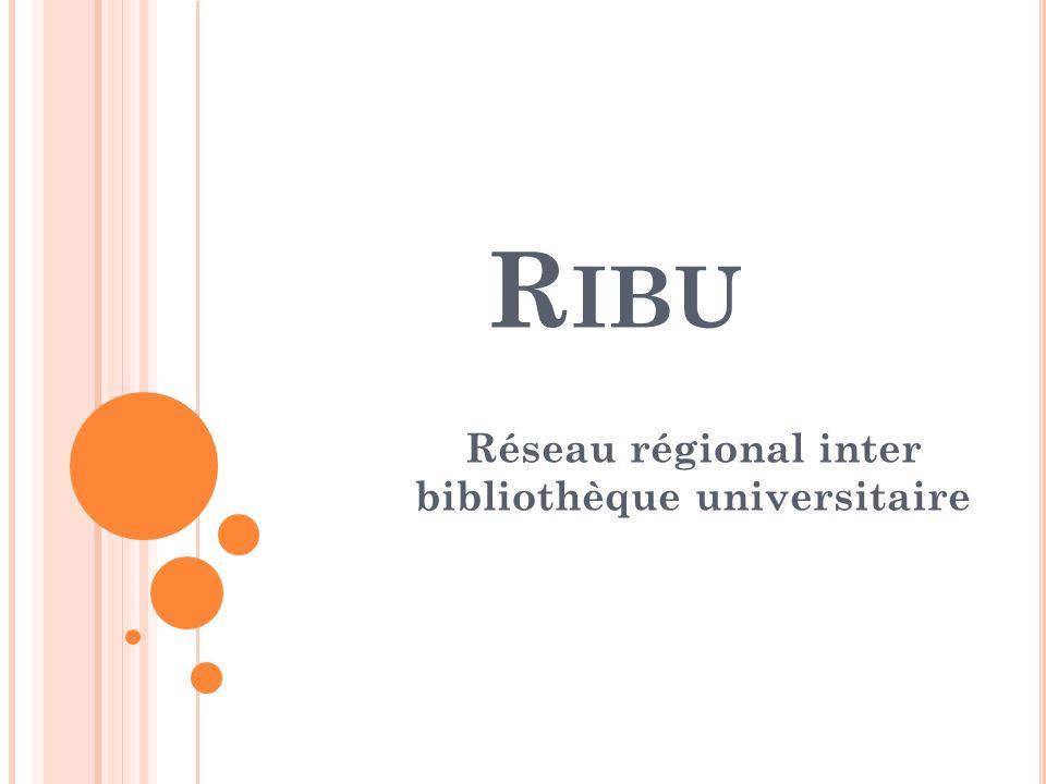 O BJECTIFS RIBU Constitution du catalogue collectif des bibliothèques universitaires et établissements de la région centre de lAlgérie 8