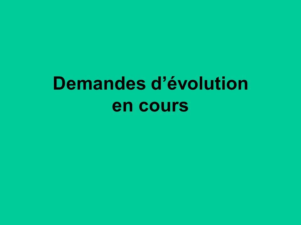 Demandes dévolution en cours