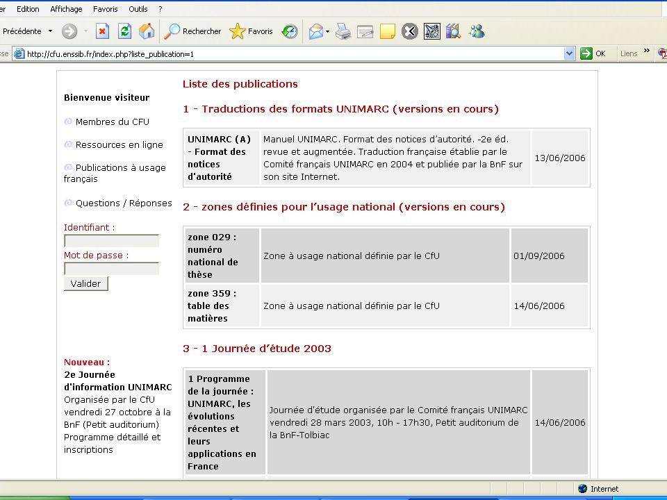27 octobre 2006 Thierry Clavel, ENSSIB Conclusion lENSSIB, par son implication dans le projet, a permis à ce site dexister.