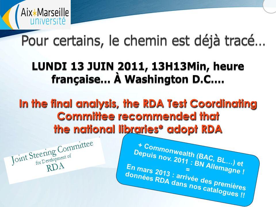 Pour certains, le chemin est déjà tracé… LUNDI 13 JUIN 2011, 13H13Min, heure française...
