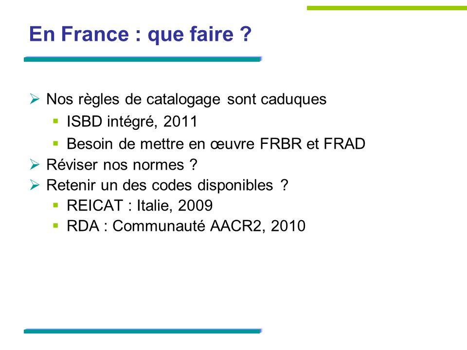 RDA en France aussi .Remplacer les normes AFNOR par RDA .
