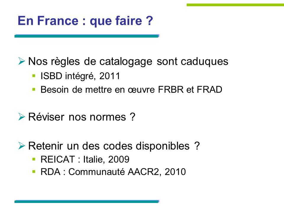 En France : que faire .